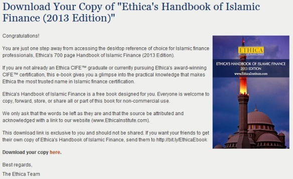 Ethica Handbook of Islamic Finance (2013)