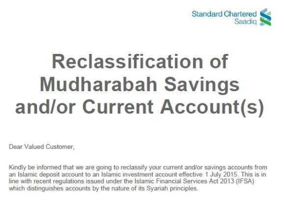 Investment Account Notice