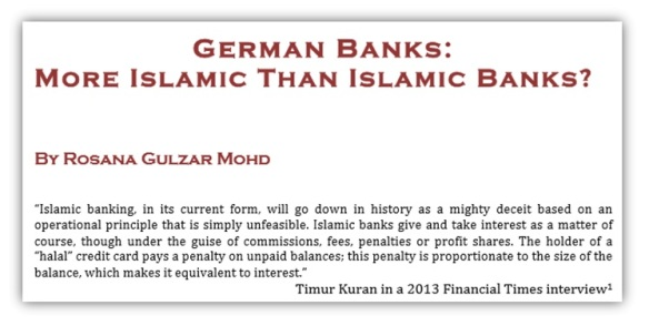 German Banks More Islamic Than Islamic Bank Rosana Gulzar Mohd