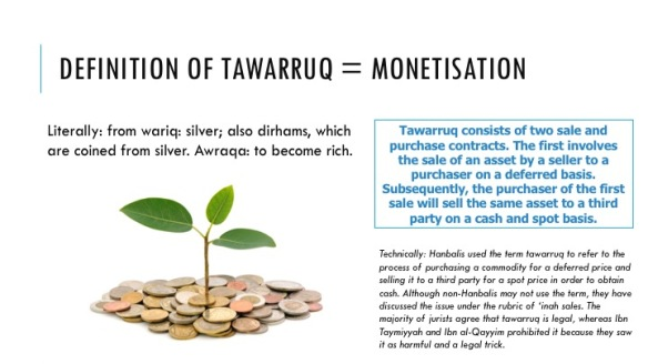 Financing : Tawarruq (Commodity Murabaha) | Islamic Bankers Resource